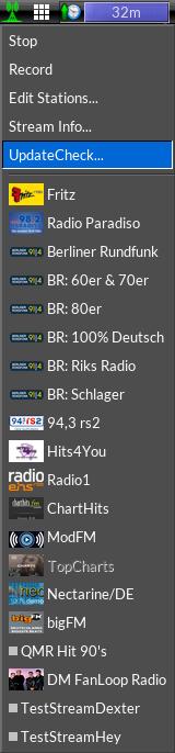 WebRadio Menu